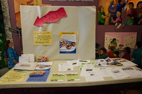 CAPC Programs and information booth with Diane Wilmann